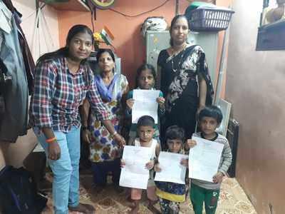 Yuva Sena women members enroll street kids into BMC schools