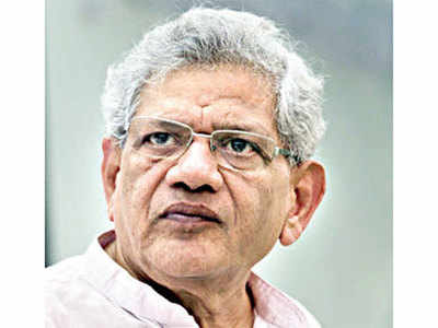 Oppn protests Yechury's name in Delhi riots charge sheet