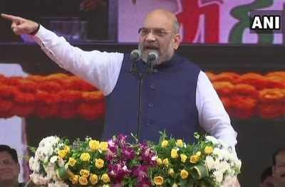 At BJP president Amit Shah's Mumbai rally, 'snakes', 'mongoose', 'dogs' and 'cats' make an entry