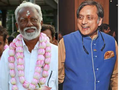 BJP's Kummanam Rajasekharan gives Congress' Shashi Tharoor a good fight
