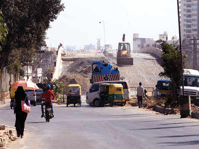 After failed start, work on Thanisandra Main Road flyover begins again