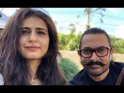 Aamir Khan catches up with Fatima Sana Shaikh post wrapping up Laal Singh Chaddha's Delhi schedule