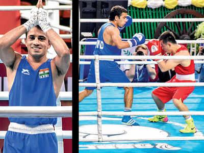 Boxer Amit Phangal defeated Rio Olympic champion Hasanboy Dusmatov at Asian Championship
