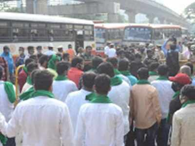 Bengaluru: 5K farmers expected to protest today against government policies on farm sector