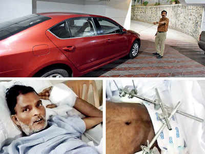 KP resident hits guard with car; kin files FIR, wants compensation