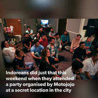 Indoreans catch up with strangers at a secret party