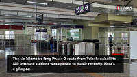 Latest route of Namma Metro from Yelachenahalli to Silk Institute open to public
