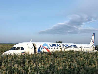 Russian jet crash-lands in field after bird strike