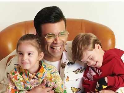 Watch: Karan Johar plays rapid-fire with his kids Yash and Roohi