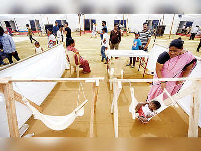 Image result for Temporary Crèches set up in <a class='inner-topic-link' href='/search/topic?searchType=search&searchTerm=MAHARASHTRA - MUMBAI' target='_blank' title='maharashtra-Latest Updates, Photos, Videos are a click away, CLICK NOW'></div>maharashtra</a> booths to help <a class='inner-topic-link' href='/search/topic?searchType=search&searchTerm=WOMEN' target='_blank' title='women-Latest Updates, Photos, Videos are a click away, CLICK NOW'>women</a> voters