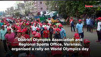 A rally on World Olympics day in Varanasi