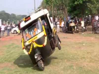 Man drives his auto in reverse at 80 kmph in Pune