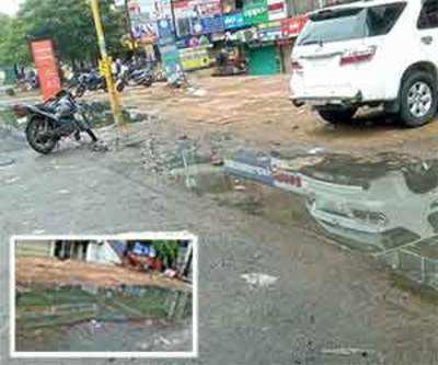 Waterlogging, illegal parking make roads narrower, add to woes