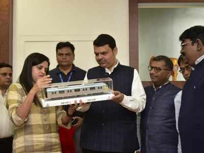 CM Devendra Fadnavis unveils the model for Mumbai Metro Line 3 aka Aqua Line