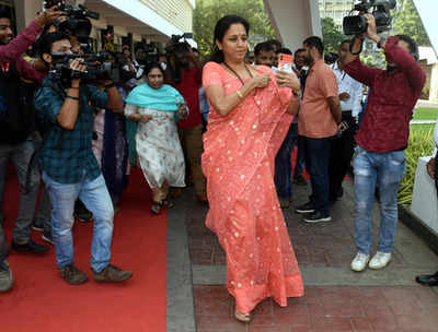 NCP MP Supriya Sule visits Pune Municipal Corporation; questions authorities over delay in implementation of various projects