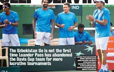 Uzbekistan tie isn't first time Leander Paes has abandoned Davis Cup