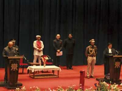 Radha Krishna Mathur sworn in as first Ladakh Lt Governor
