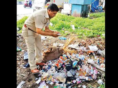 Kothrud litterbugs, beware! Assistant sanitary inspector Vaijanath Gaikwad is tracking you