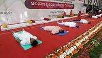 Watch: Glimpses of International Yoga Day celebrations in Bengaluru