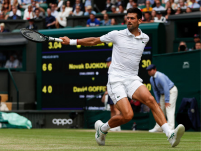Novak Djokovic defeats David Goffin to face Roberto Bautista Agut in Wimbledon semi-final