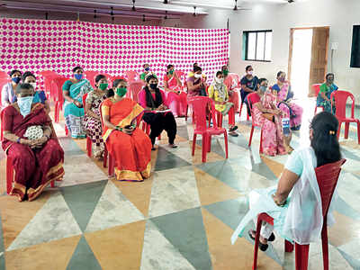 Maids receive lessons in best Covid practices