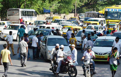 Ola and Uber drivers stage a snap strike
