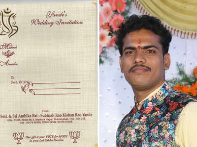 This Hyderabadi groom asks 'Vote for Modi' as wedding gift