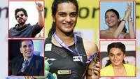 PV Sindhu wins World Badminton Championship Gold: Bollywood stars Shah Rhukh Khan, Anushka Sharma, Akshay Kumar among others extend congratulations