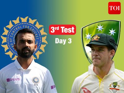 Live Cricket Score, India vs Australia, 3rd Test: Australia 103/2 at Stumps on Day 3