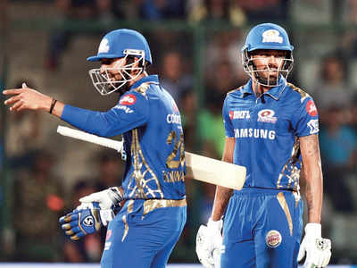 Pandya brothers fire MI to 40-run win
