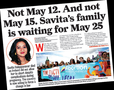 Savita Halappanavar's father makes a plea to the Irish who vote today on changing abortion law
