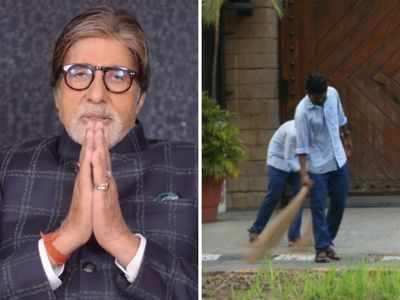 Amitabh Bachchan appreciates on-duty sanitation workers outside Jalsa, calls them his 'well-wishers'