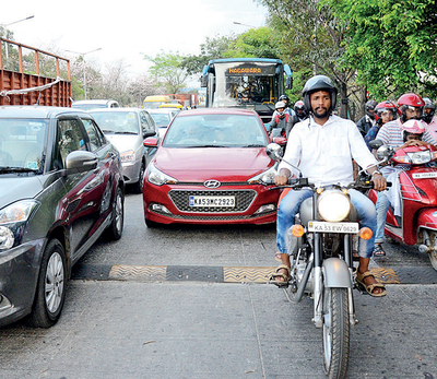 Bengaluru: 'Dead slow' speed-breakers creating traffic jams: Nasty rubberised bumps ruin ORR's signal-free run