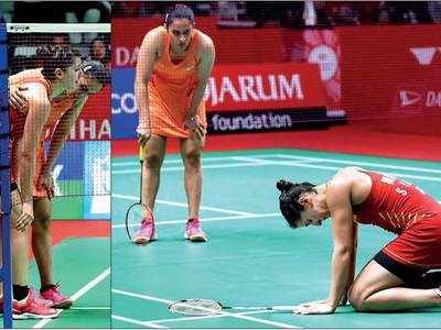 Saina Nehwal claims title after Carolina Marin limps out due to leg injury