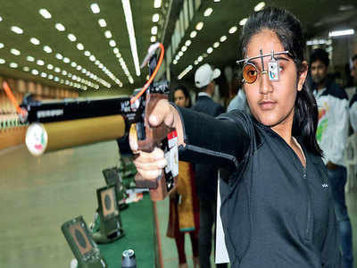 Esha Singh wins gold in 10m air pistol event
