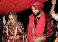 Hazel Keech takes on a new name post wedding!