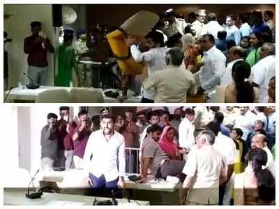Mayoral election at Gandhinagar Municipal Corporation turns violent