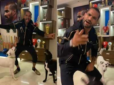 Watch: Shikhar Dhawan grooves to Shehnaaz Gill's dialogues, leaves KL Rahul in splits