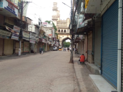 Hyderabad: Popular trade joints observe voluntary lockdown