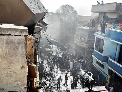 45 dead as flight crashes in Karachi residential colony