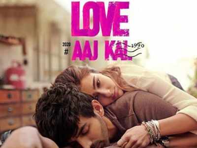 Sara, Kartik look lost in love in Love Aaj Kal poster