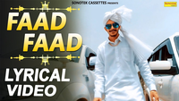 Latest Haryanvi Song Lyrical Faad Faad Sung By Gulzaar Chhaniwala