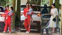 Taimur Ali Khan visits grandmother, Babita Kapoor, with mom Kareena Kapoor and aunt Karisma Kapoor