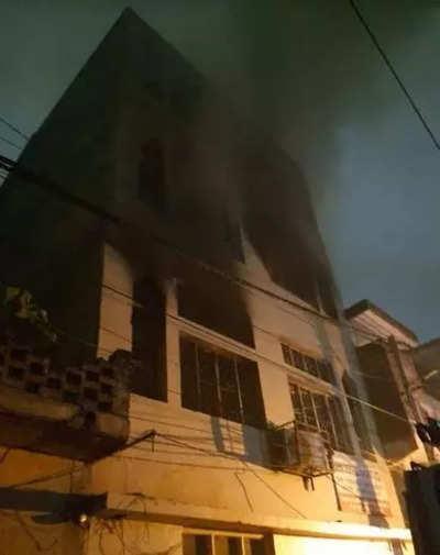 Delhi news live: Fire breaks out in cardboard godown in city's Dabri area