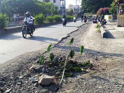 Dilapidated road leaves Chinchwad locals fuming