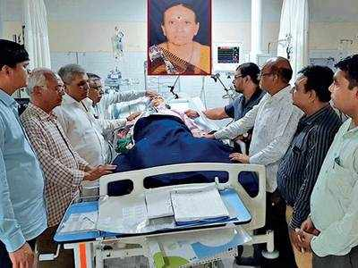 Senior citizen's organs give life to five