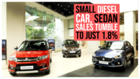 Small diesel car, sedan sales tumble to just 1.8% in April-July