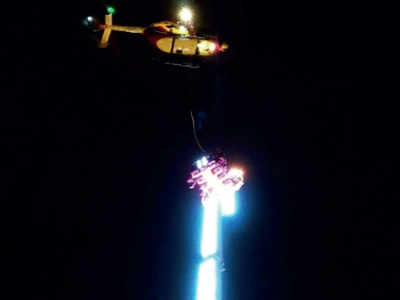 Unfair! 8 spend New Year's Eve stuck 50 m in the air at funfair