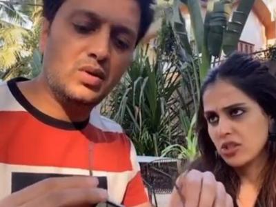 Are Riteish Deshmukh's Tik Tok videos with 'baiko' Genelia D'Souza examples of 'Shaadi ke side effects'?