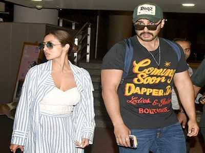 Malaika Arora, Arjun Kapoor spotted together at Mumbai airport